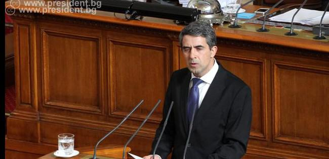 Президентът Росен Плевнелиев направи обръщение към народа и Народното събрание от парламентарната трибуна