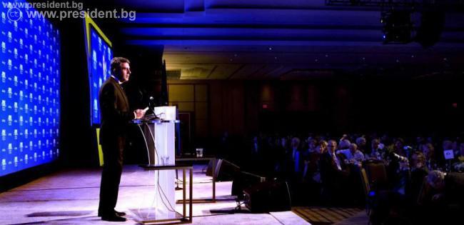 Президентът Росен Плевнелиев беше почетен гост на гала-вечер във Вашингтон по повод 100 години от основаването на Лигата срещу поругаването.