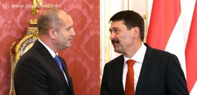 Среща с президента Янош Адер по време на официалното посещение в Унгария през юни 2019 г.